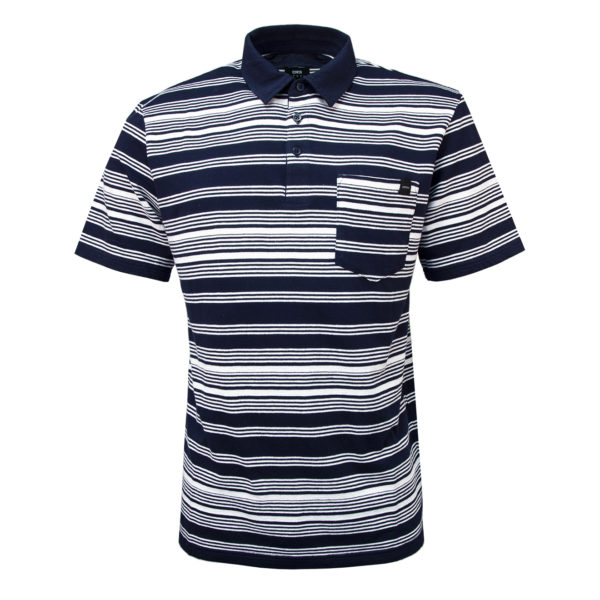 Edwin Royal Polo Jacquard Stripes Navy