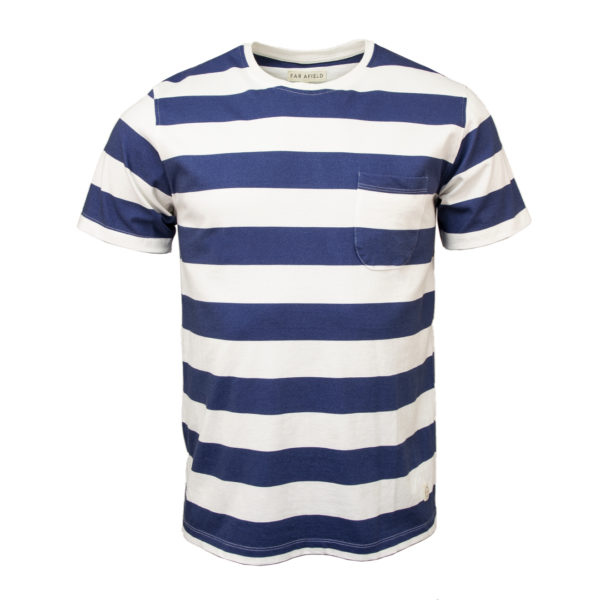 Far Afield Bold Stripe T-Shirt Blue / White