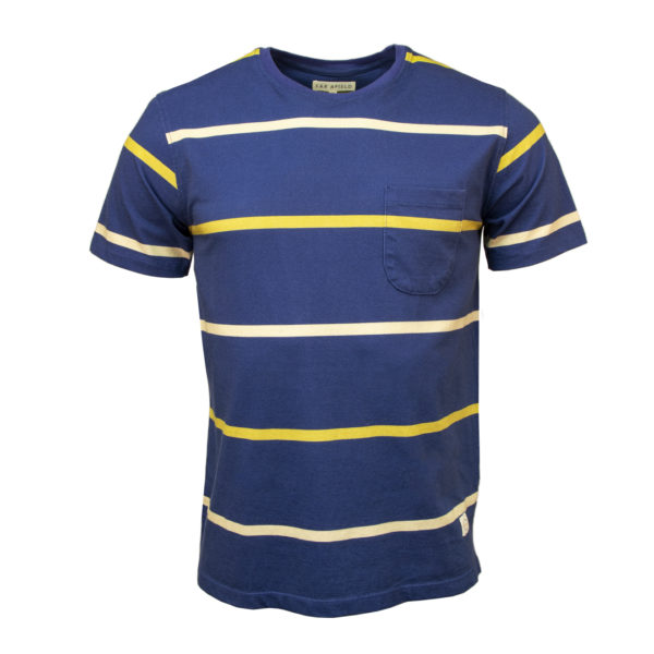 Far Afield Dos Stripe T-Shirt Blue / Yellow