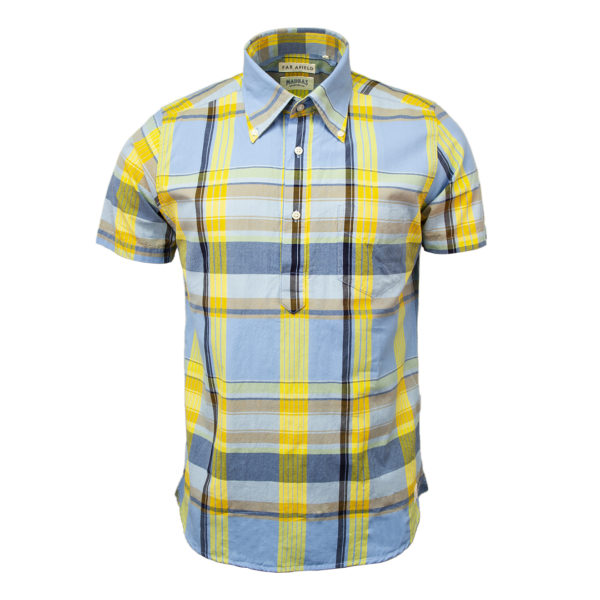 Far Afield X Madras Shirting Company Ivy Blue