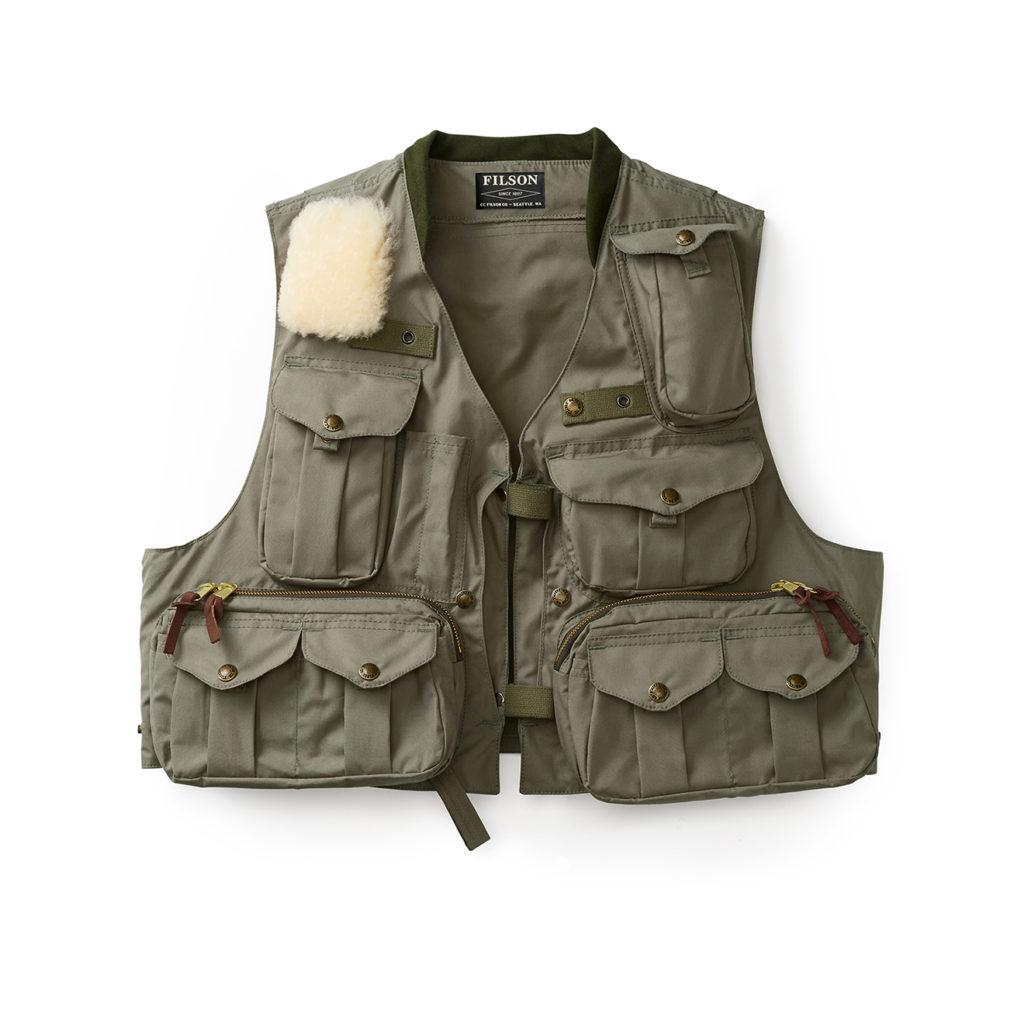 Filson Fly Fishing Guide Vest Green
