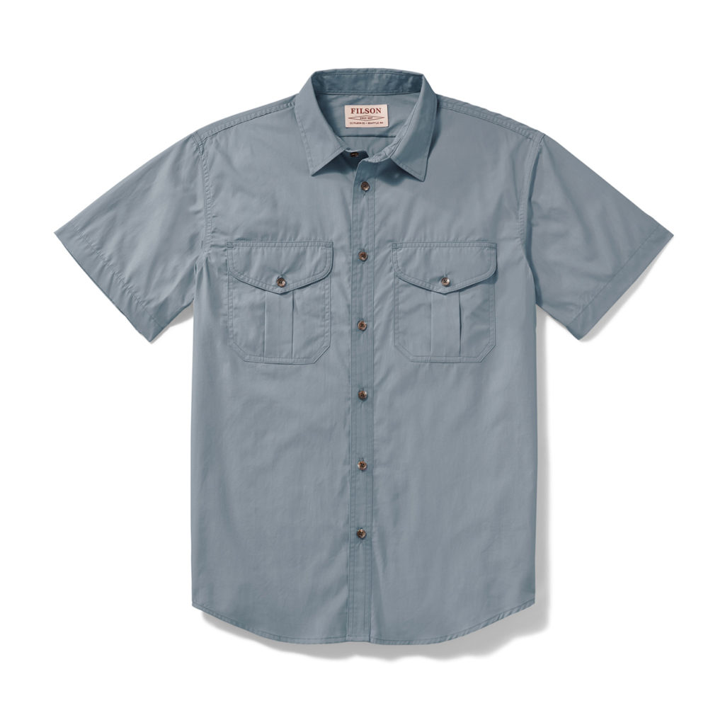 Filson SS Feather Cloth Shirt Smoke Blue