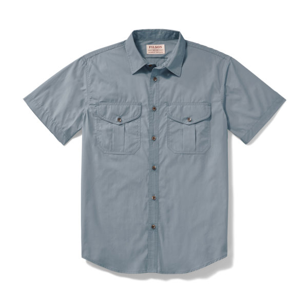 Filson SS Feather Cloth Shirt Smoke Blue