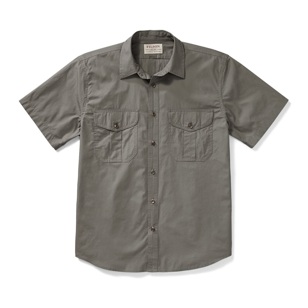 Filson SS Feather Cloth Shirt Light Olive