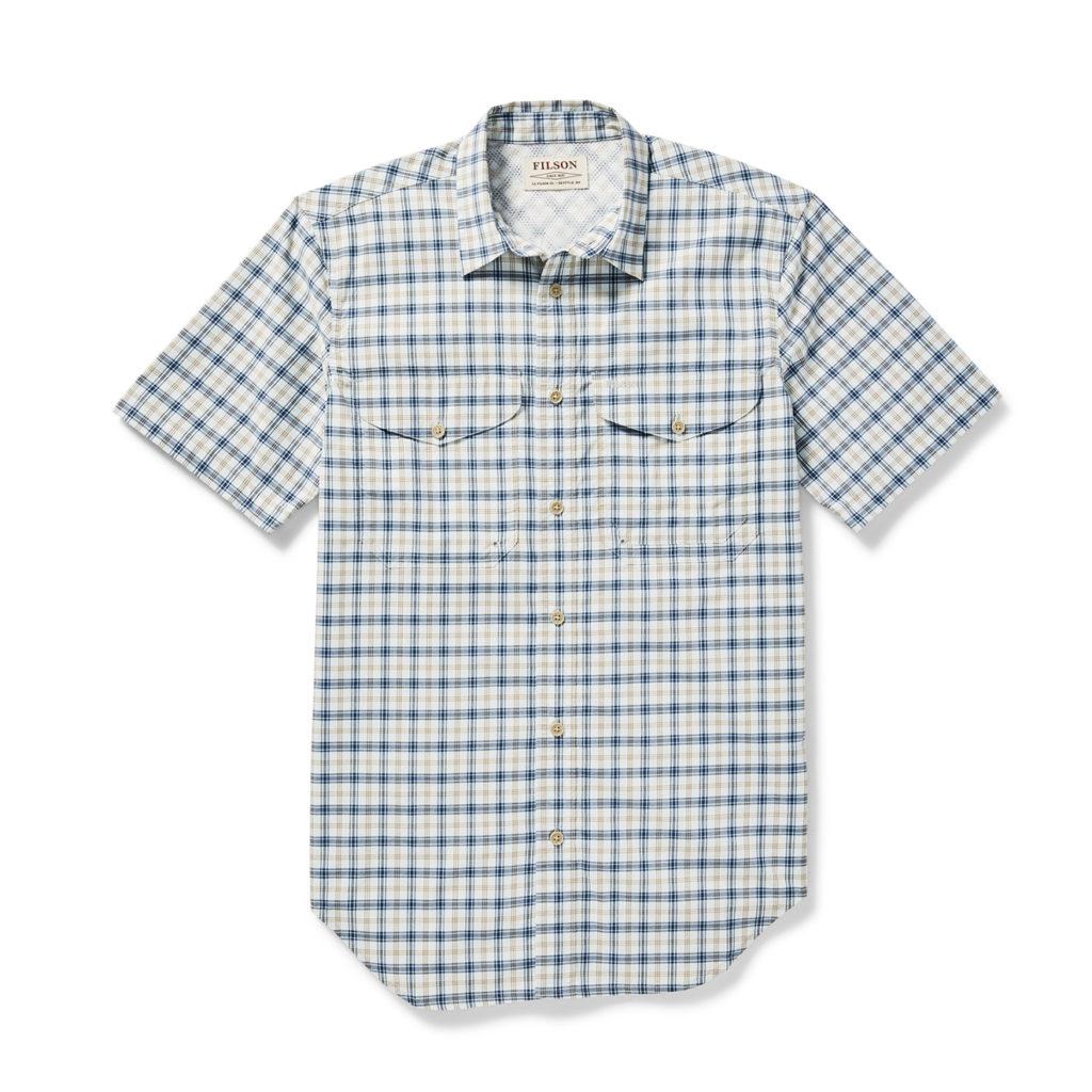 Filson Twin Lakes SS Sport Shirt Sky / Navy / Gold