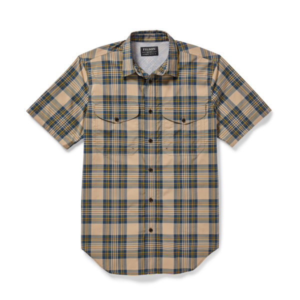 Filson Twin Lakes SS Sport Shirt Gold Blue
