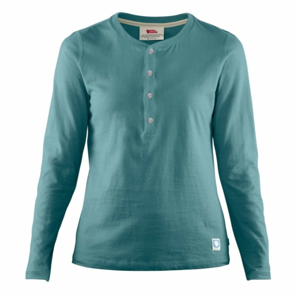 Fjallraven Womens Greenland Buttoned LS T-Shirt Frost Green