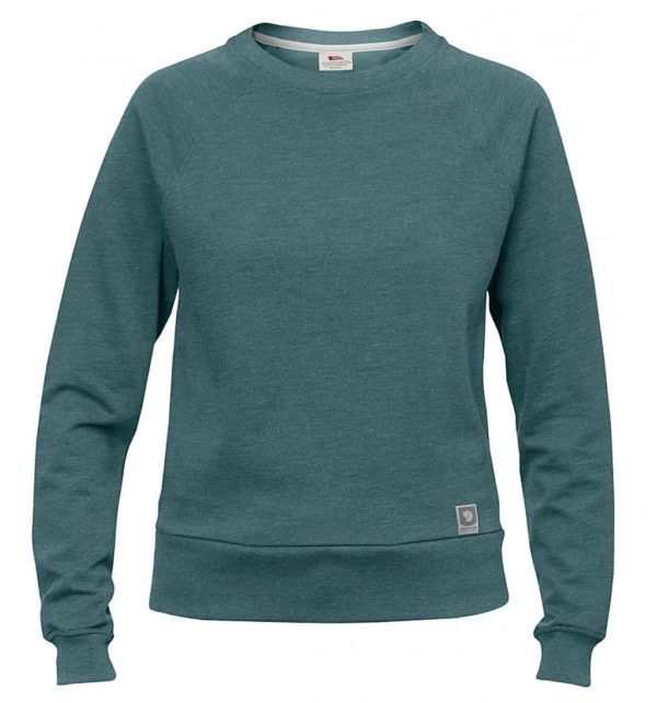 Fjallraven Womens Greenland Sweater Frost Green