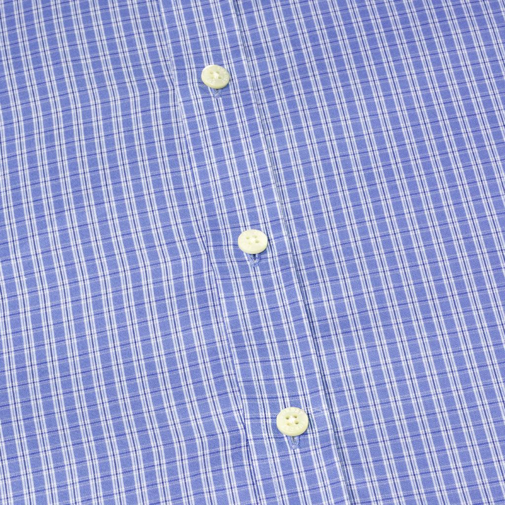 James Purdey Double Check Shirt Blue