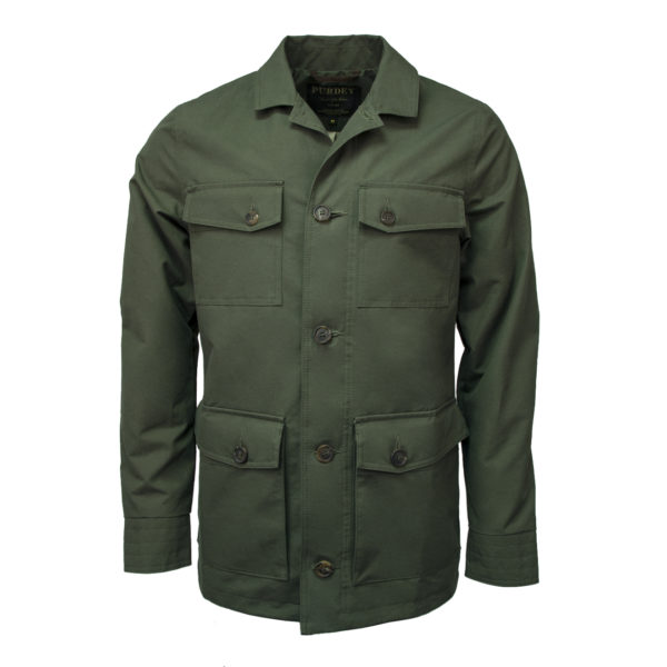 James Purdey Percival Safari Jacket Olive Green