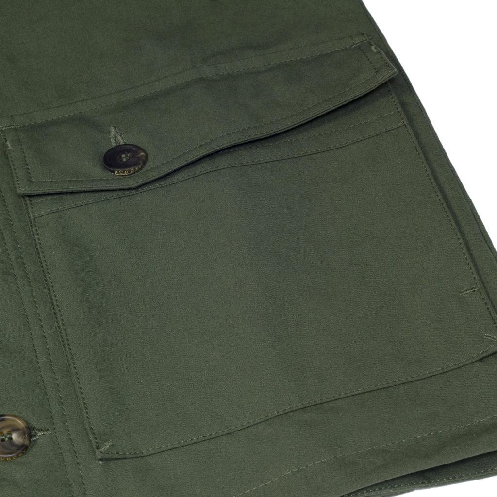 James Purdey Percival Safari Jacket Olive Green