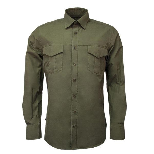 James Purdey Safari Shirt Olive Green