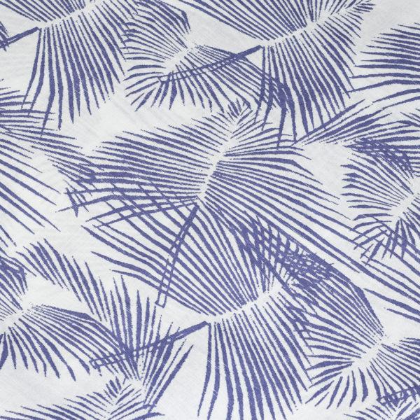 Pendleton Aloha Shirt Palm Leaf Print Blue