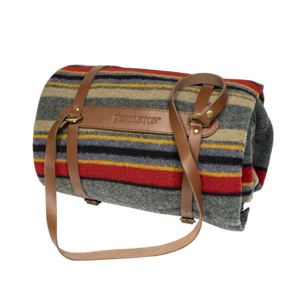 Pendleton Yakima Twin Blanket With Carrier Yakima Green Heather Mix