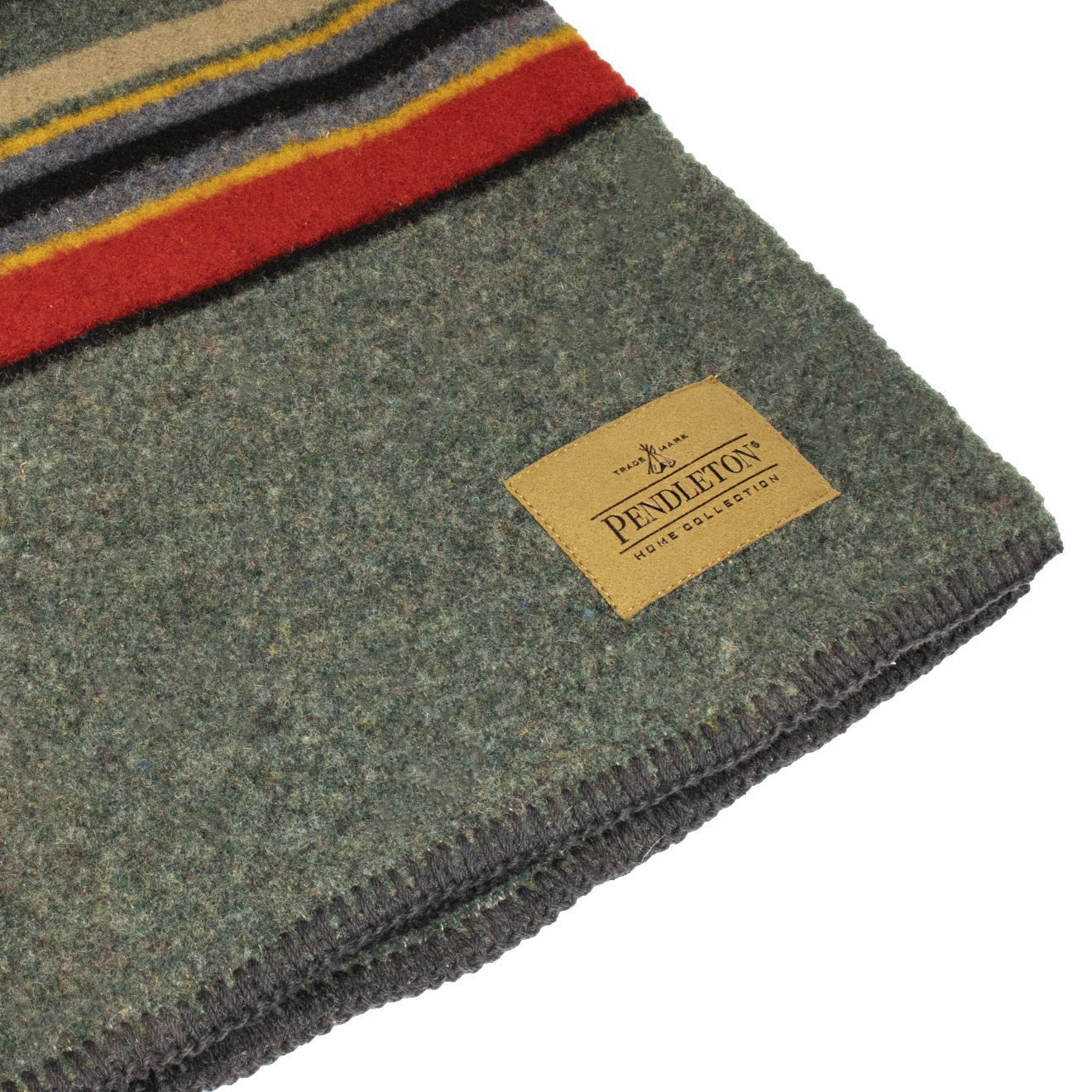 Pendleton Yakima Twin Blanket With Carrier Yakima Green Heather Mix The Sporting Lodge