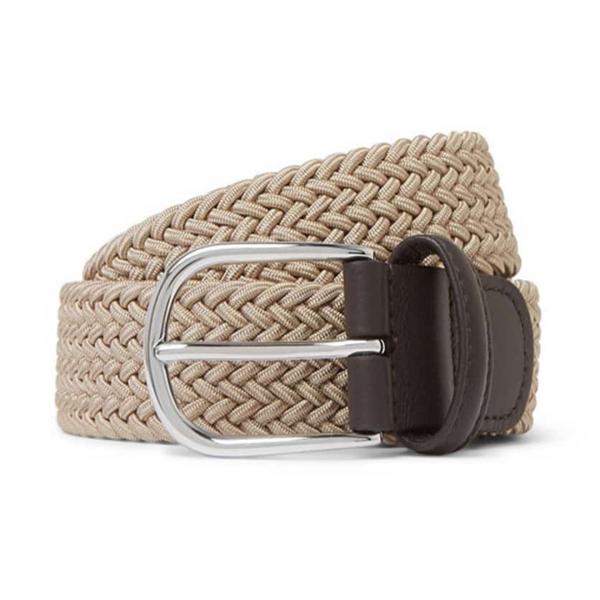 Andersons B0667 Woven Textile Belt Beige