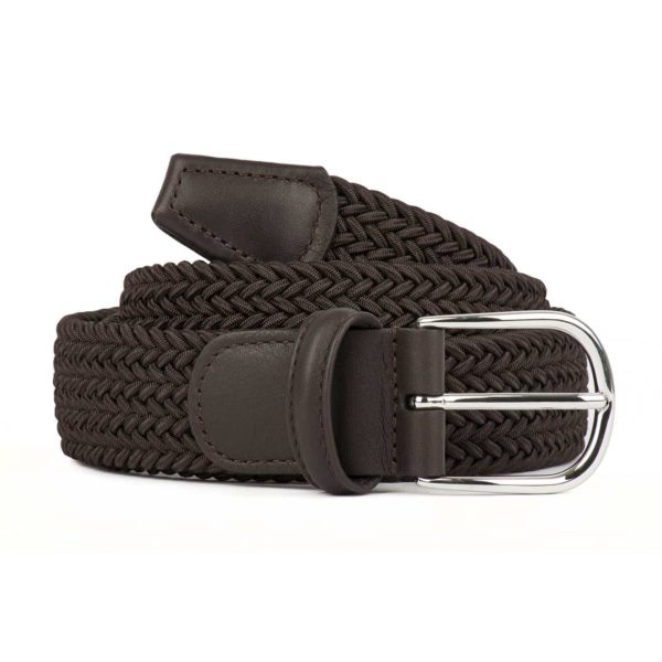 Andersons B0667 Woven Textile Belt Dark Brown