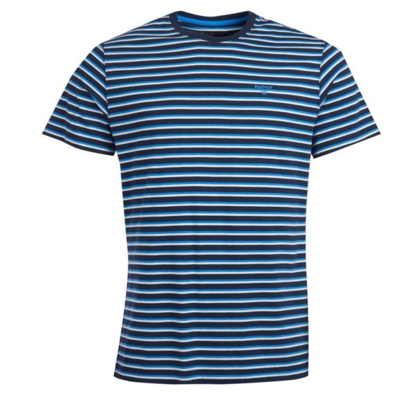 Barbour Crane Stripe T - Shirt Navy