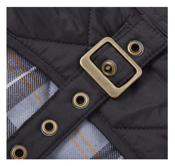 Barbour Quilted Dog Coat Adjustable Waist Strap Black
