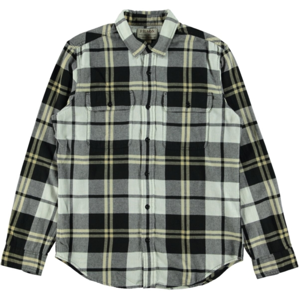 Filson Scout Shirt Black / White / Gold Plaid