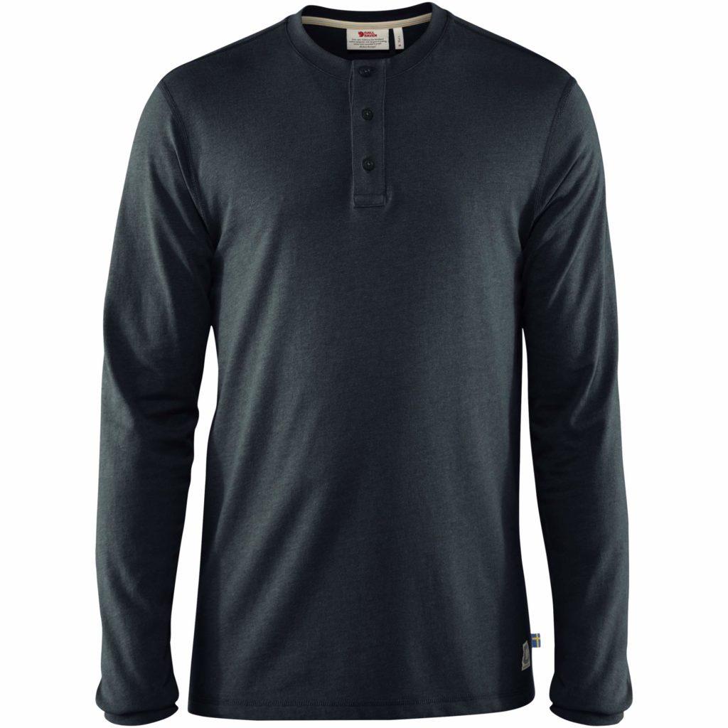Fjallraven Greenland Re-Cotton Buttoned T-Shirt Dark Navy