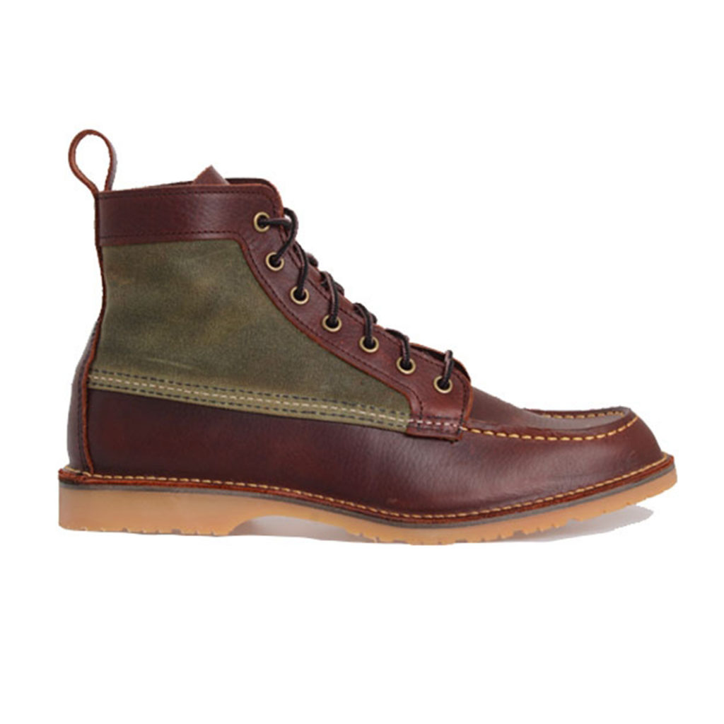 Red Wing Wacouta Canvas Mocc Boot Briar Oil Slick