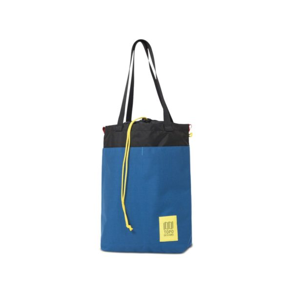 Topo Designs Cinch Tote Bag Blue / Black