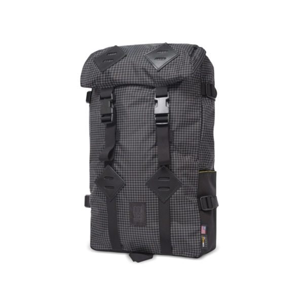 Topo Designs Klettersack Backpack Black / White Ripstop