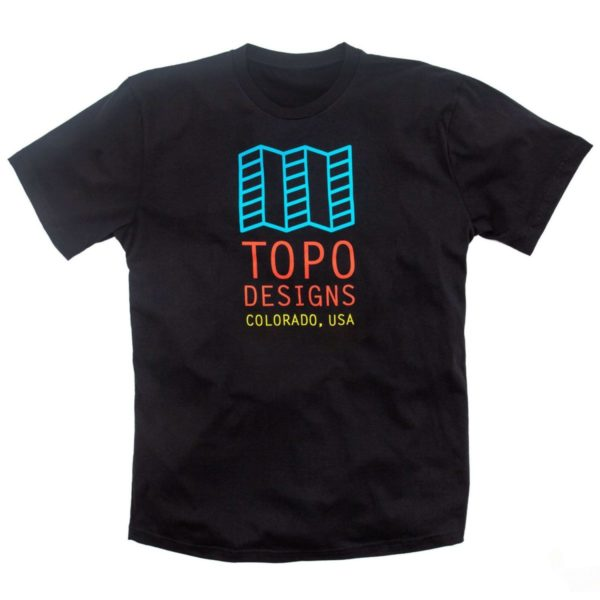 Topo Designs Original Logo T-Shirt Black