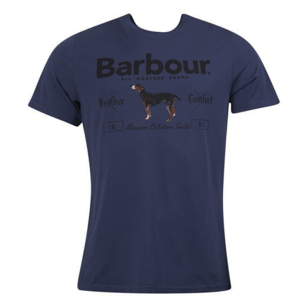 Barbour Country Dog T-Shirt Navy