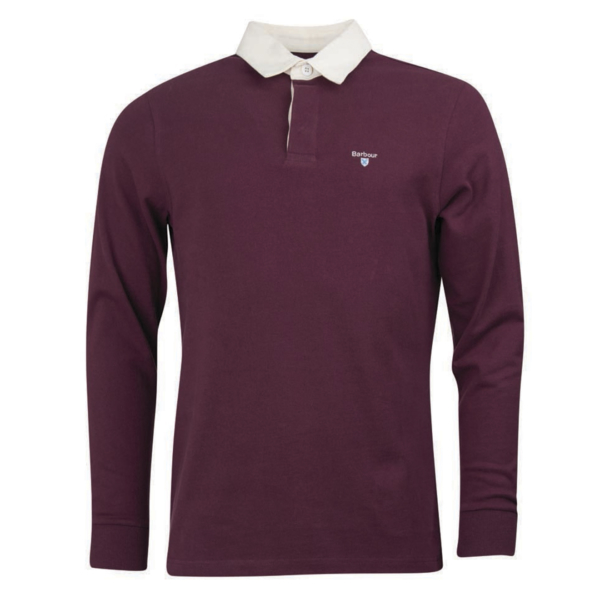 Barbour Shield Rugby Shirt Merlot
