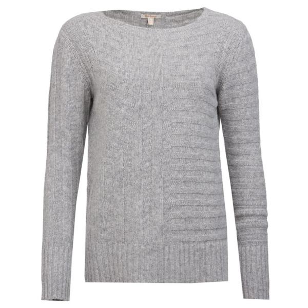 Barbour Womens Jasmine Knit Light Grey