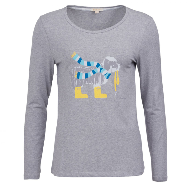 Barbour Womens Oyster LS T-Shirt Light Grey