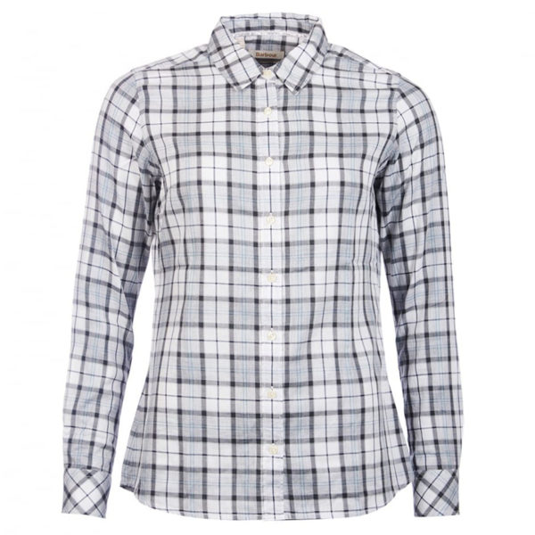 Barbour Womens Linton Shirt Grey Tartan