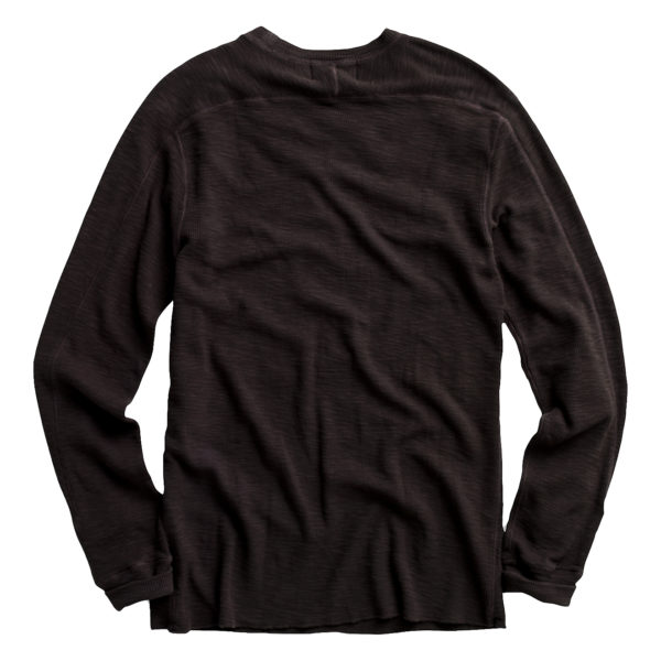 Double RL Textured Crew Neck L/S T-Shirt Faded Black Canvas