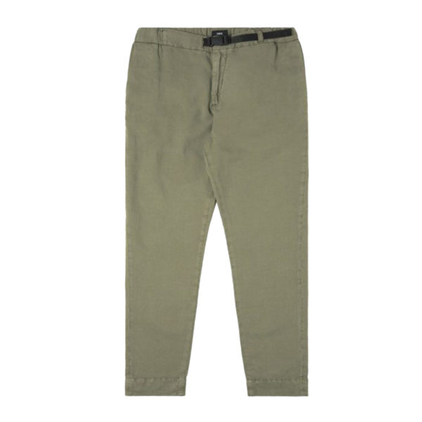 Edwin 25 Light Canvas Linen Chino Military Green