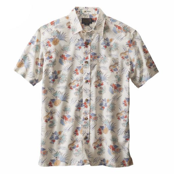 Pendleton Aloha SS Shirt Hawaiian Print Bone