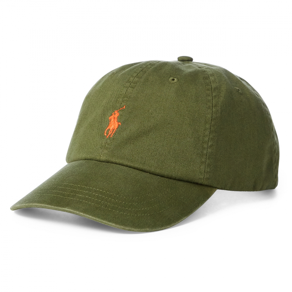 Polo Ralph Lauren Classic Cotton Chino Baseball Cap Supply Olive