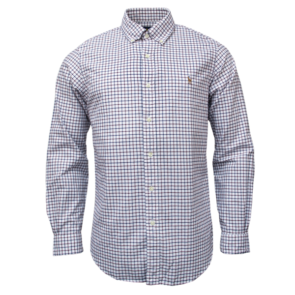Polo Ralph Lauren Classic Fit Check Shirt White / Berry Multi