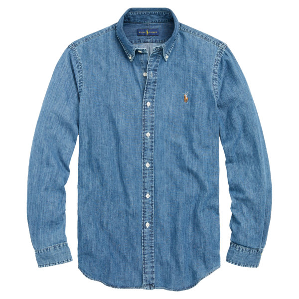 Polo Ralph Lauren Classic Fit Denim Shirt Dark Wash