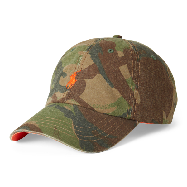 Polo Ralph Lauren Cotton Canvas Cap British Elmwood Camo