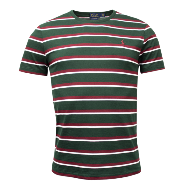 Polo Ralph Lauren Crew Stripe SS T-Shirt Green Multi
