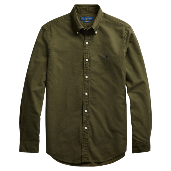 Polo Ralph Lauren Custom Fit Oxford Shirt Company Olive