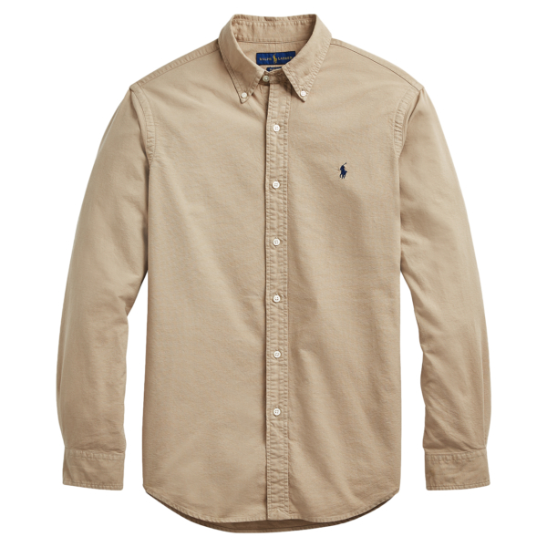Polo Ralph Lauren Custom Fit Oxford Shirt Surrey Tan