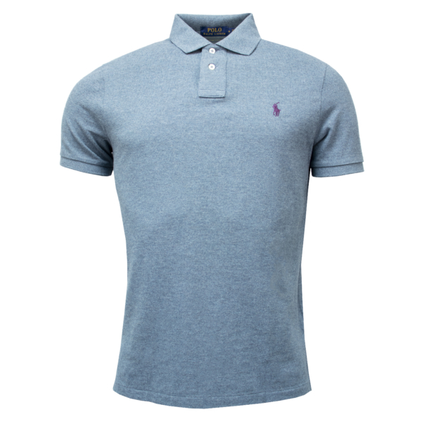 Polo Ralph Lauren Custom Slim Fit Classic Polo Light Mark Blue