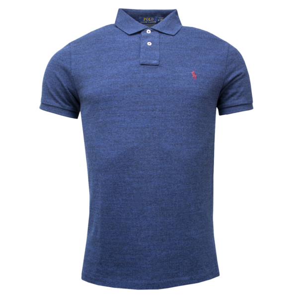 Polo Ralph Lauren Custom Slim Fit Classic Polo Monroe Blue Heather
