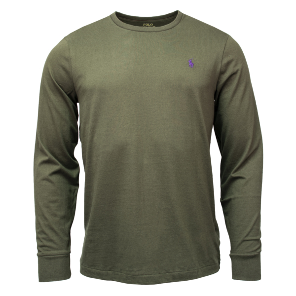 Polo Ralph Lauren Custom Slim Fit Cotton LS T-Shirt Estate Olive