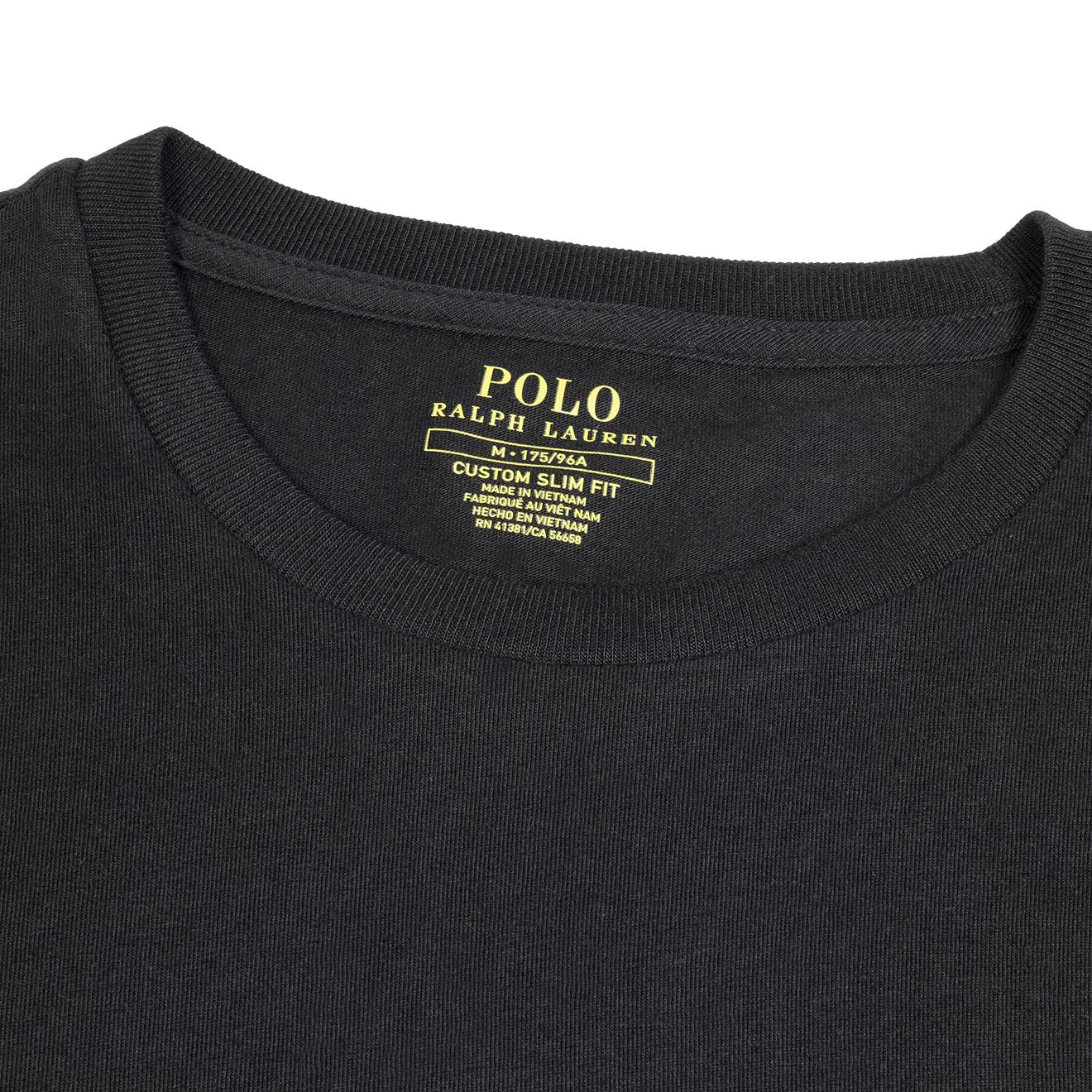 Ls Shirt Slim T The Lauren Lodge Cotton Ralph Custom Polo Black Fit Sporting 0PvN8mynwO