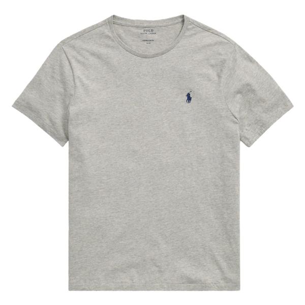 Polo Ralph Lauren Custom Slim Fit Cotton T-Shirt Grey