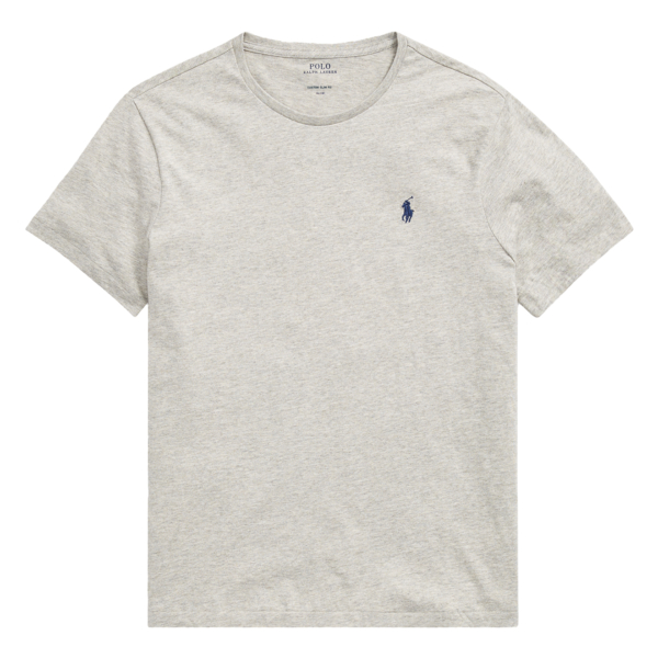 Polo Ralph Lauren Custom Slim Fit Cotton T-Shirt Grey